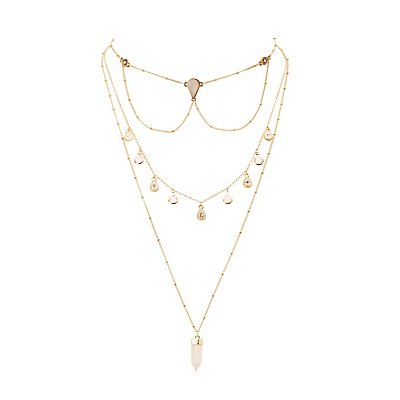 Stone & Crystal Layering Necklaces