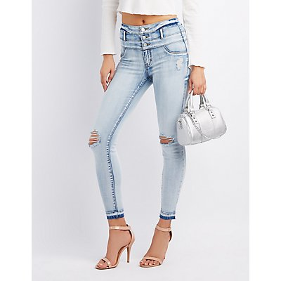 Refuge Destroyed Hi-Waist Skinny Jeans