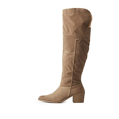 Qupid Faux Suede Over-The-Knee Boots