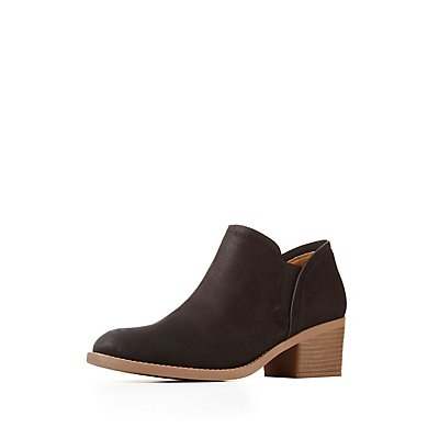 Qupid Side Gore Low Heel Booties