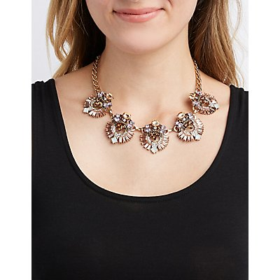 Boho Crystal Bib Necklace