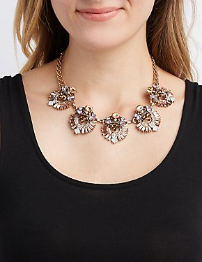 Boho Crystal Bib Necklace
