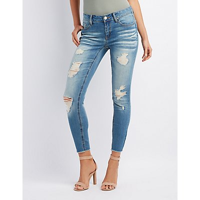 Refuge Destroyed Skinny Boyfriend Jeans
