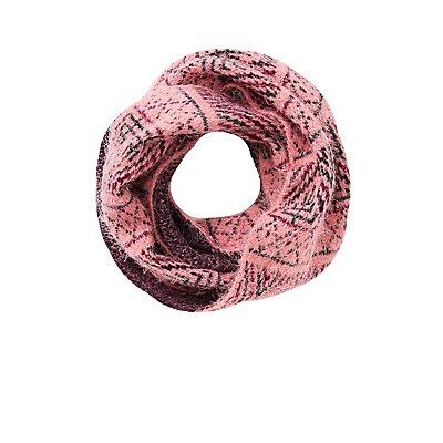 Geometric Print Infinity Scarf