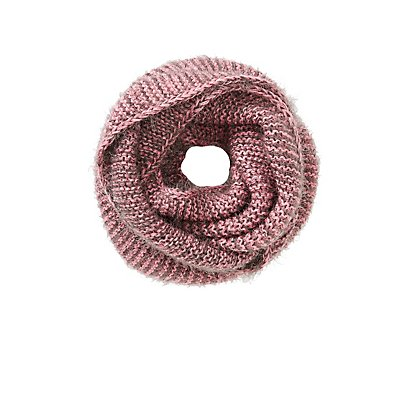 Bi-Color Knit Infinity Scarf