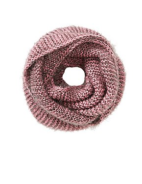 Bi-Color Knit Infinity Scarf
