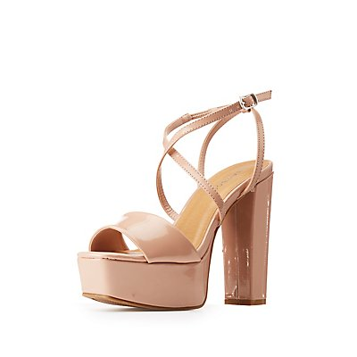 Bamboo Cross Strap Wedge Sandals