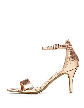 Bamboo Metallic Two-Piece Dress Sandals