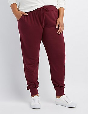 Plus Size French Terry Knit Jogger Pants