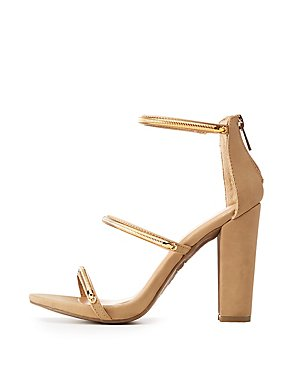Bamboo Chain Ankle Strap Sandals