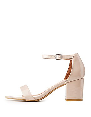 Bamboo Patent Two-Piece Dress Sandals