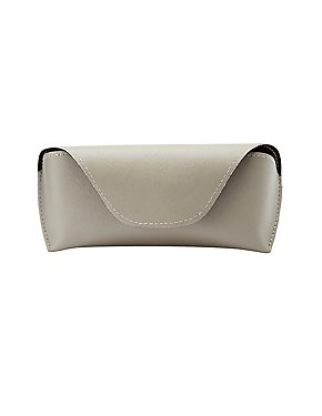 Faux Leather Flap Sunglasses Case