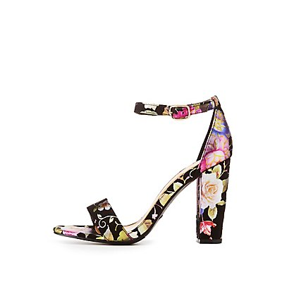 Bamboo Floral Ankle Strap Sandals