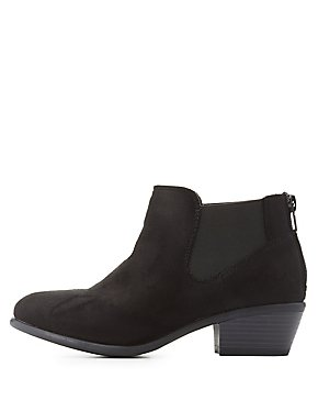 Side Gore Low Heel Booties