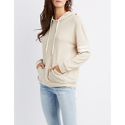 Varsity Stripe Hooded Sweatshirt