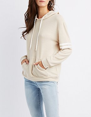Varsity Stripe Hooded Sweatshirt