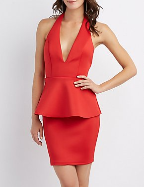 Scuba Peplum Dress