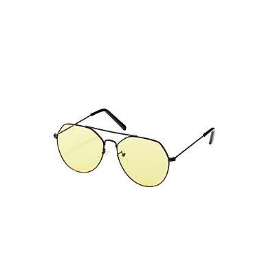 Metal Brow Bar Sunglasses