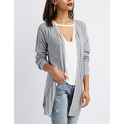 Mixed Knit Duster Cardigan
