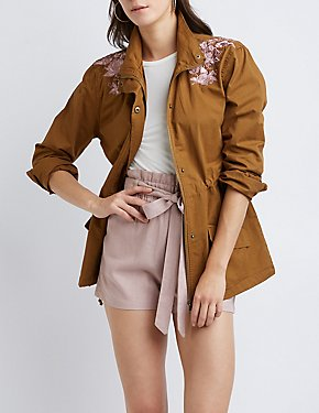 Floral Anorak Jacket