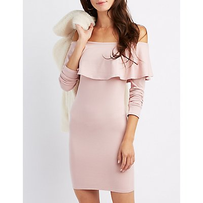 Ruffle-Trim Bodycon Dress