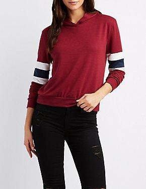 Varsity Stripe Pullover Hoodie
