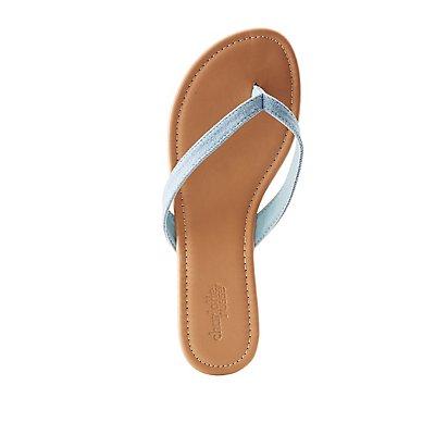 Denim Flip Flop Sandals