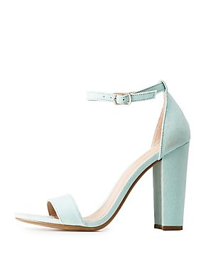 Block Heel Ankle Strap Dress Sandals