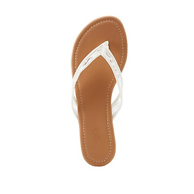 Lace Strap Flip Flop Sandals