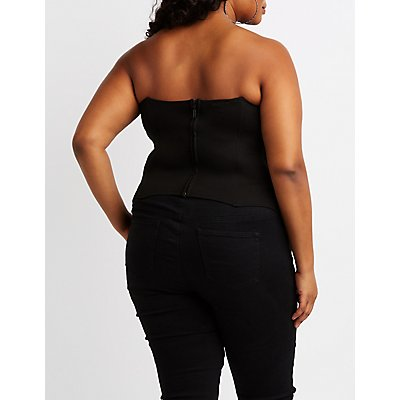 Plus Size Sequins Corset Top