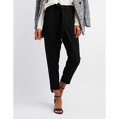 Skinny Pull On Crepe Trousers