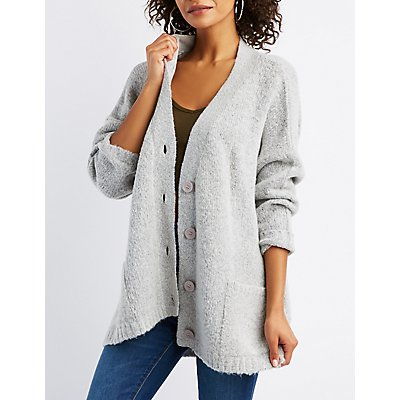 Button-Up Boyfriend Cardigan
