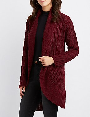 Longline Open-Front Cocoon Cardigan