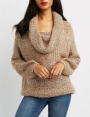 Off-The-Shoulder Pullover Sweater