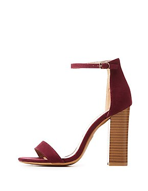 Faux Suede Ankle Strap Sandals