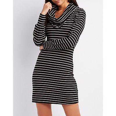 Striped & Ribbed Knit Dress