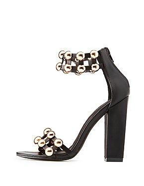 Metallic Bauble Two-Piece Sandals