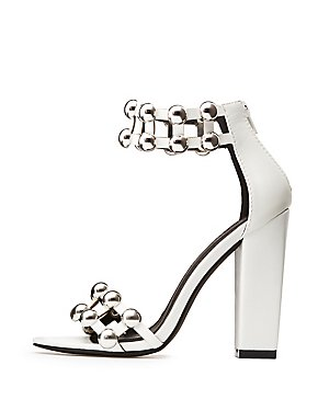 Metallic Bauble Two-Piece Sandals