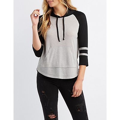 Varsity Stripe Brushed Pullover