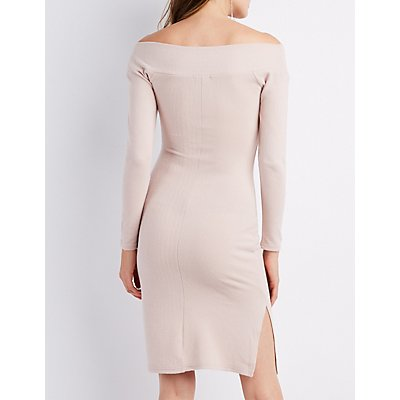 V-Neck Bodycon Dress