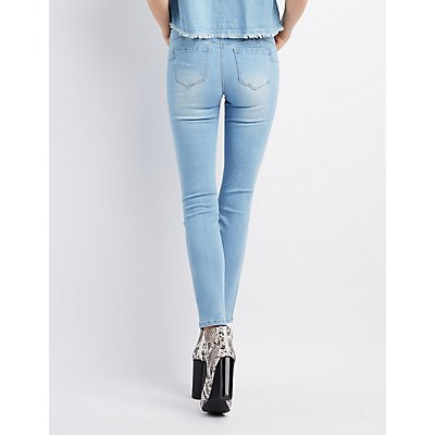 High-Rise Push-Up Skinny Jeans