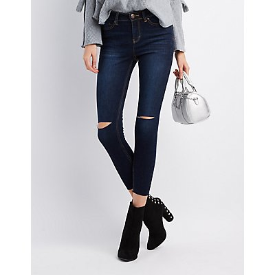 Refuge Destroyed Released Hem Skinny Jeans