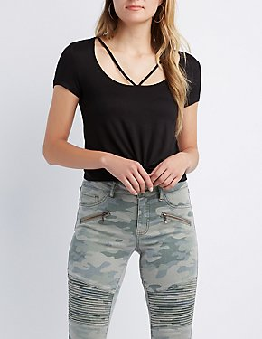 Strappy Front-Tie Top