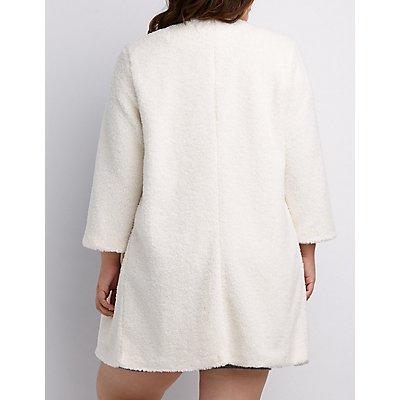 Plus Size Longline Faux Fur Coat