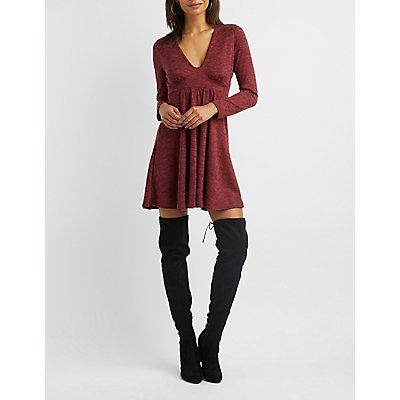 V-Neck Skater Dress