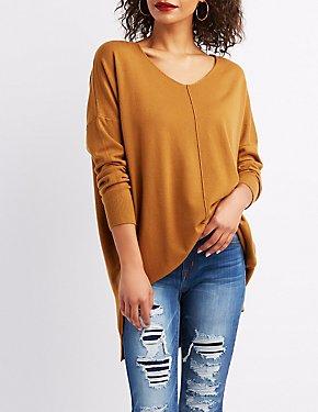 V-Neck Dolman Pullover Sweater