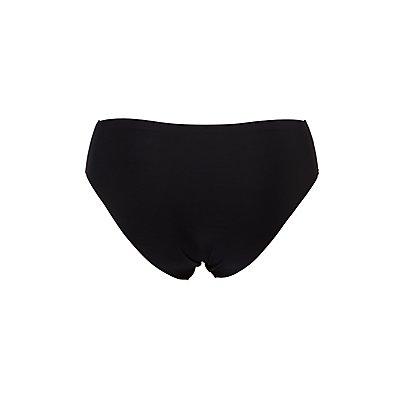 Plus Size Laser Cut Cheeky Panties