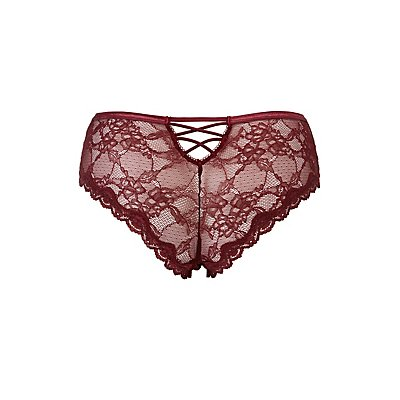 Plus Size Mesh Caged Cheeky Panties