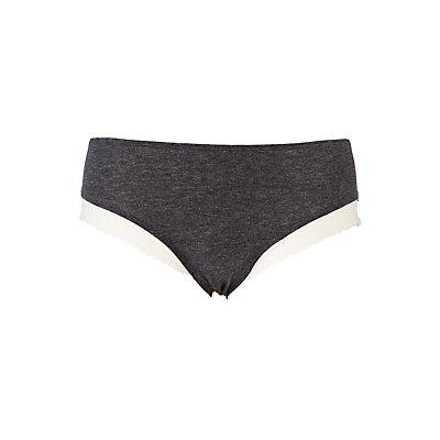 Plus Size Lace-Trim Boyshort Panties