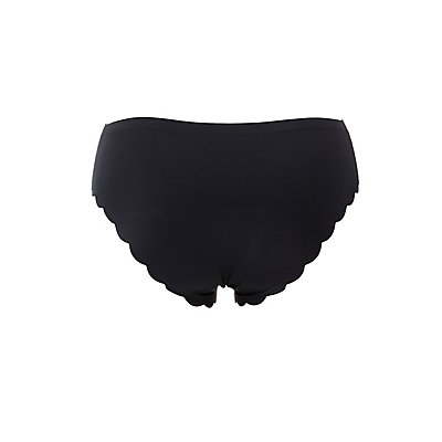 Plus Size Scalloped Laser Cut Boyshort Panties